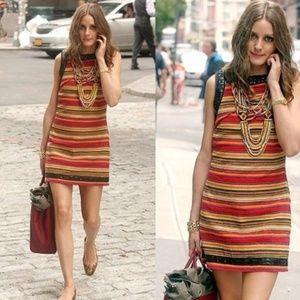 FREE PEOPLE New Romantics Tapestry Stripe Dress V6